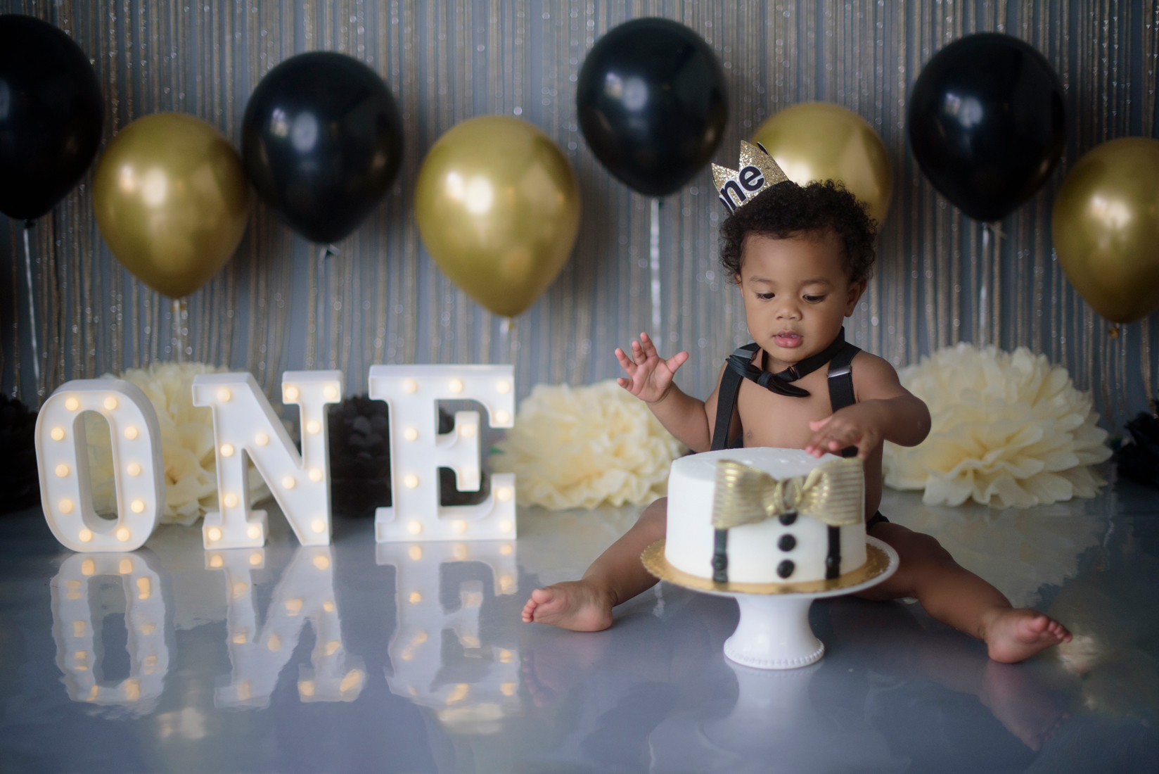 Mr Onederful cake smash 1st birthday photography Rocklin