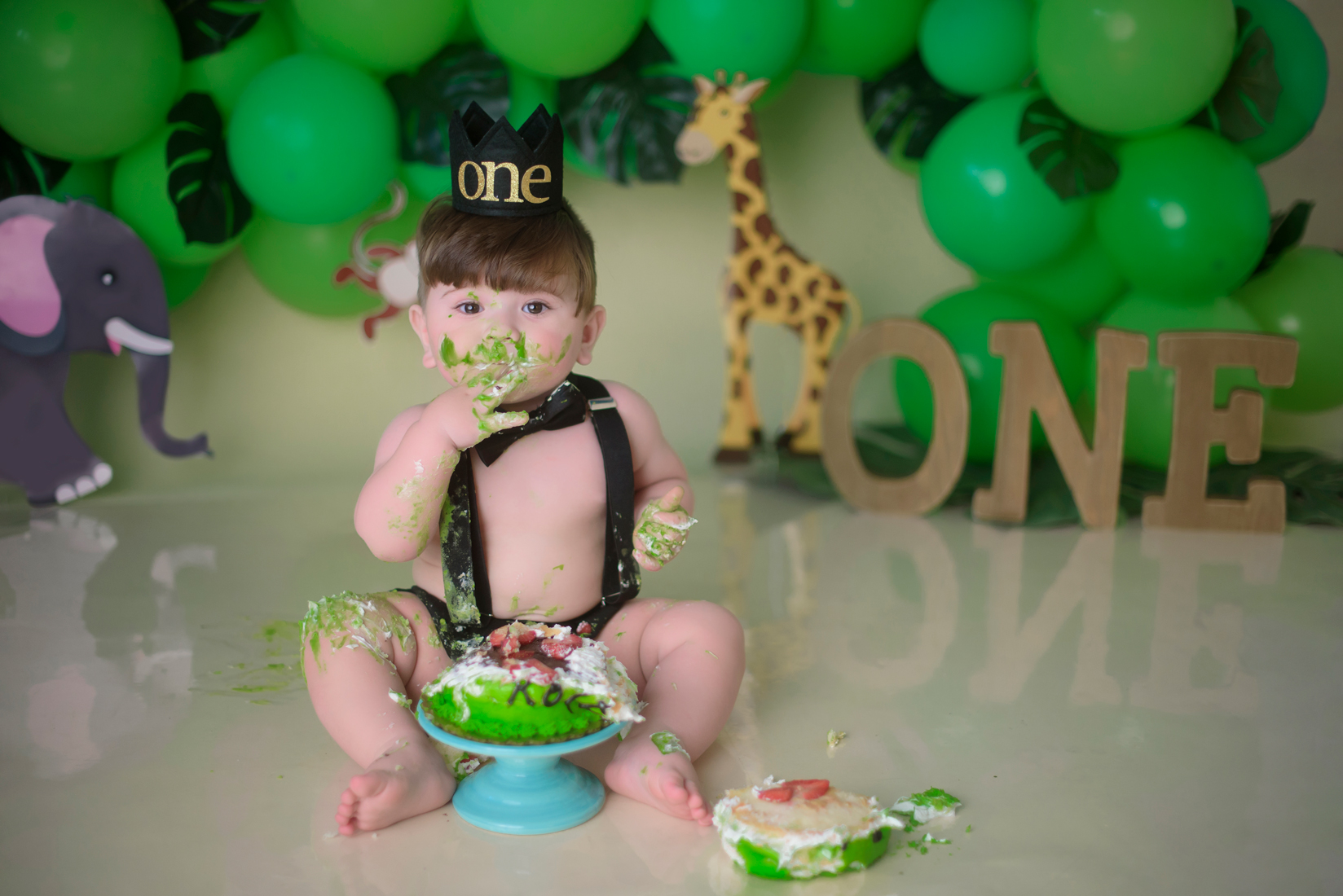 Tarzan Jungle cake smash photography Sacramento